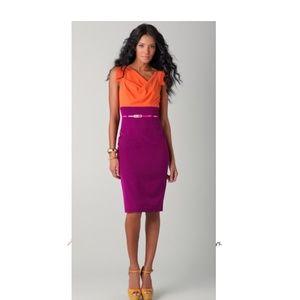 Papaya/Thistle Jackie O Two Tone Formal Dress